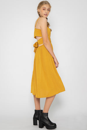 Luna Open Back Midi Dress - Three One Duo