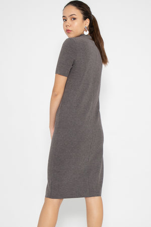 Isla T-Shirt Dress in Grey - Three One Duo