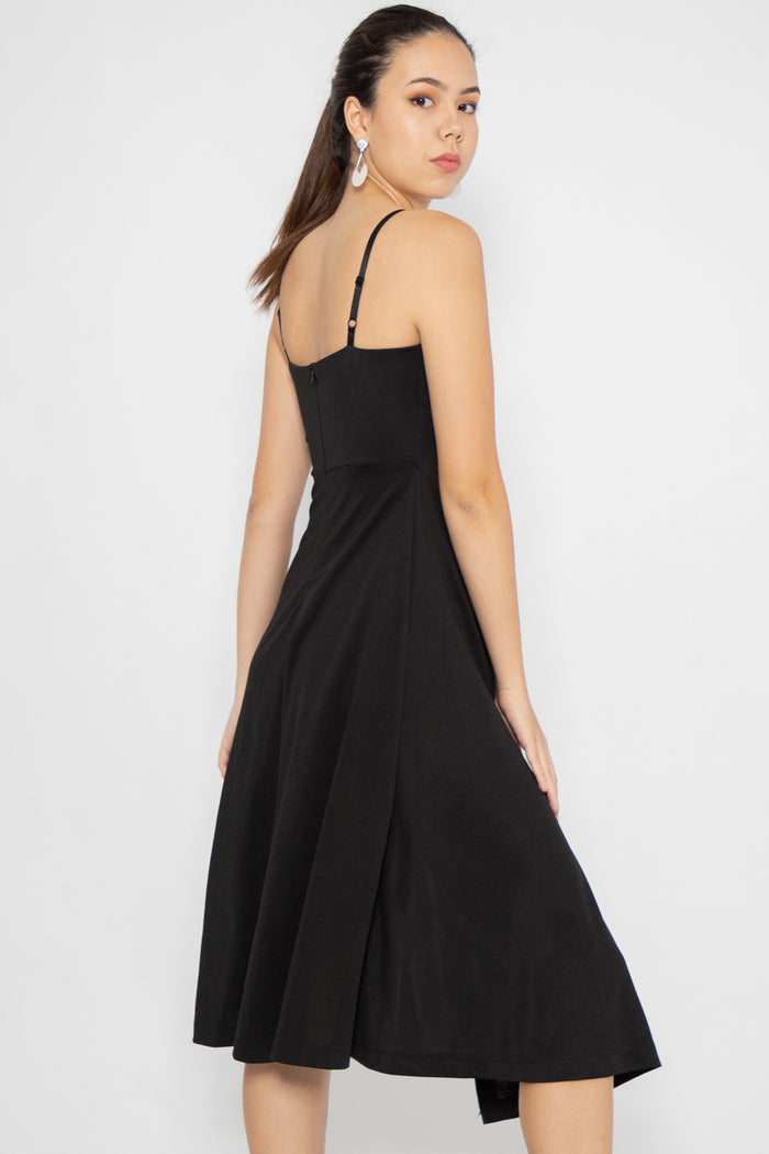 Everleigh Asymmetric Midi Dress - Three One Duo