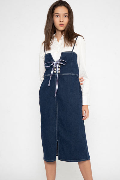 Josie Shoelace A-Line Dungaree