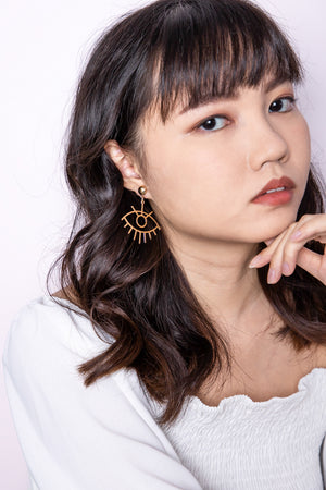 Kali Eye Shaped Earring - Three One Duo