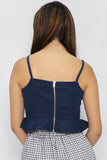 Lauren Peplum Crop Top - Three One Duo
