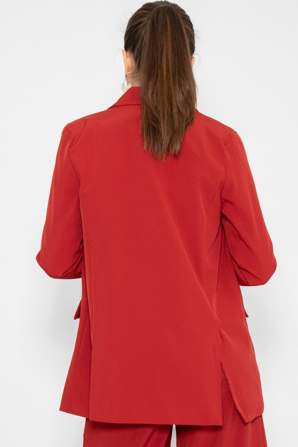 Parker Oversized Blazer in Red - Three One Duo