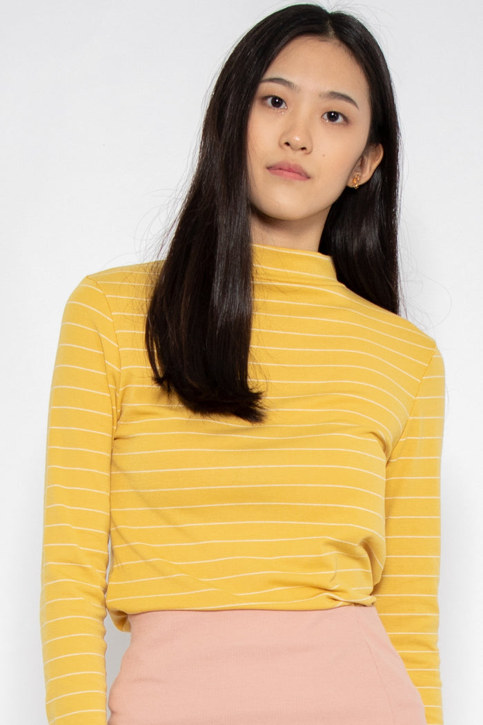Hayley Striped Long Sleeve Top - Three One Duo