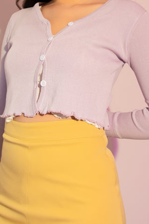 Clarissa Cardigan Top in Lilac - Three One Duo