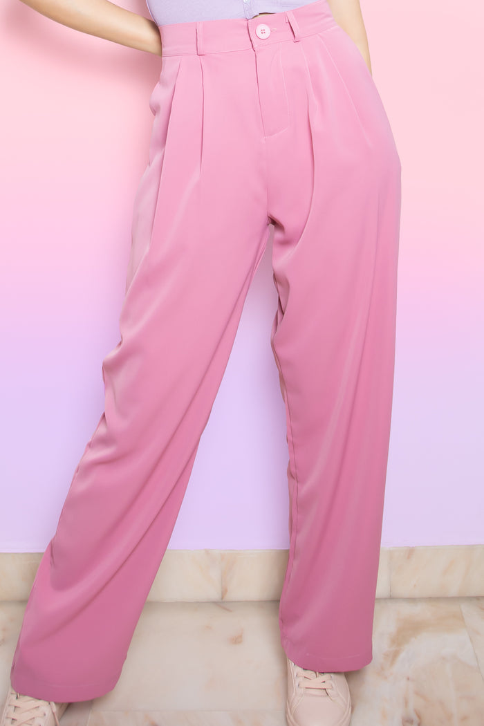 Jolene Flare Long Pants in Pink