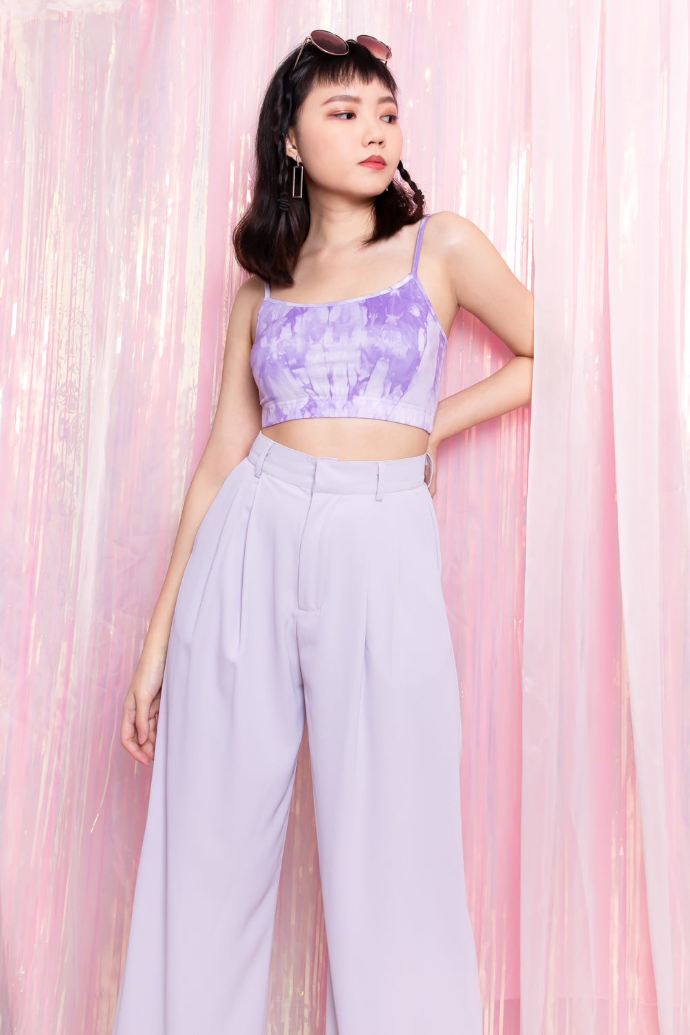 Hadleigh Flare Long Pants in Lilac
