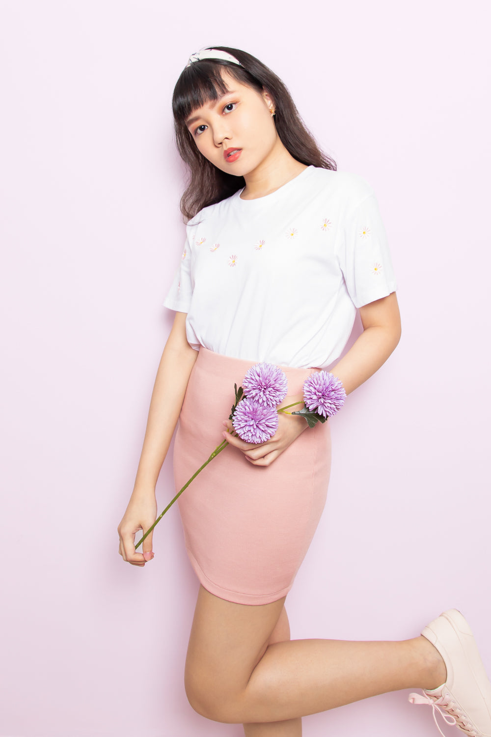 Zelda Bandage Skirt in Pink - Three One Duo