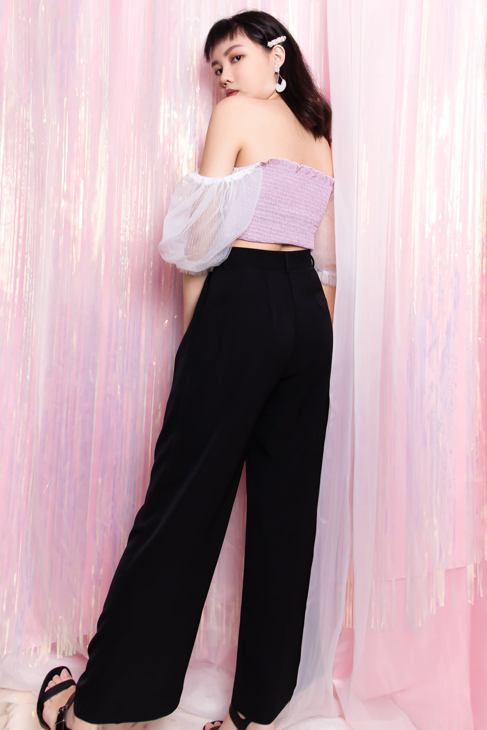 Hadleigh Flare Long Pants in Black