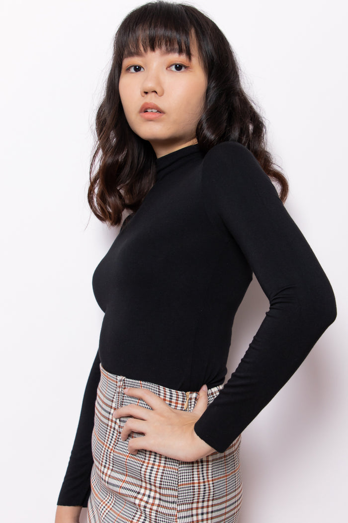 Mia High Neck Long Sleeve Top - Three One Duo
