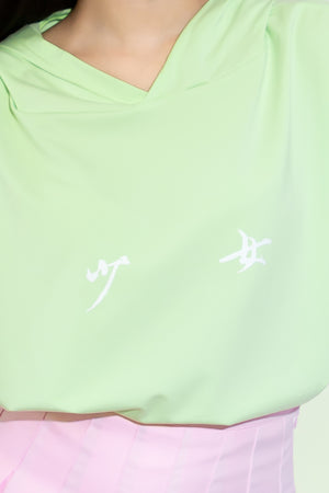 Pamela Hoodie Graphic Shirt in Lime