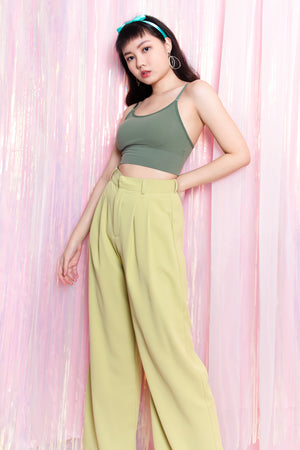 Hadleigh Flare Long Pants in Sage Green