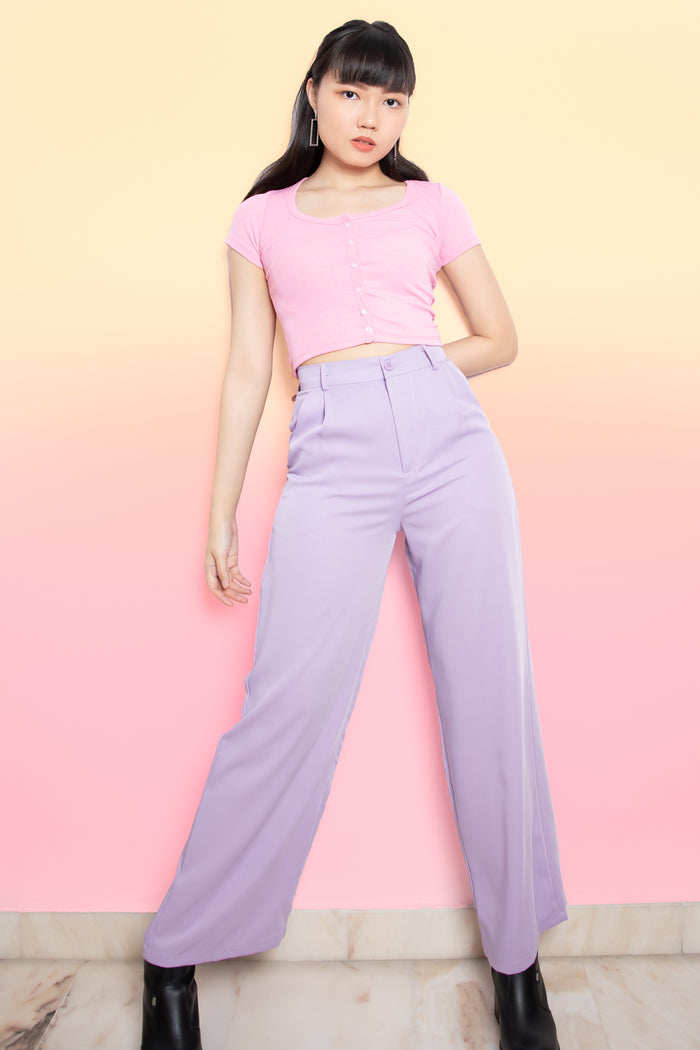 Joey Flare Long Pants in Lilac
