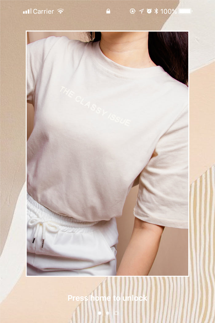 The Classy Issue Graphic Tee in Almond