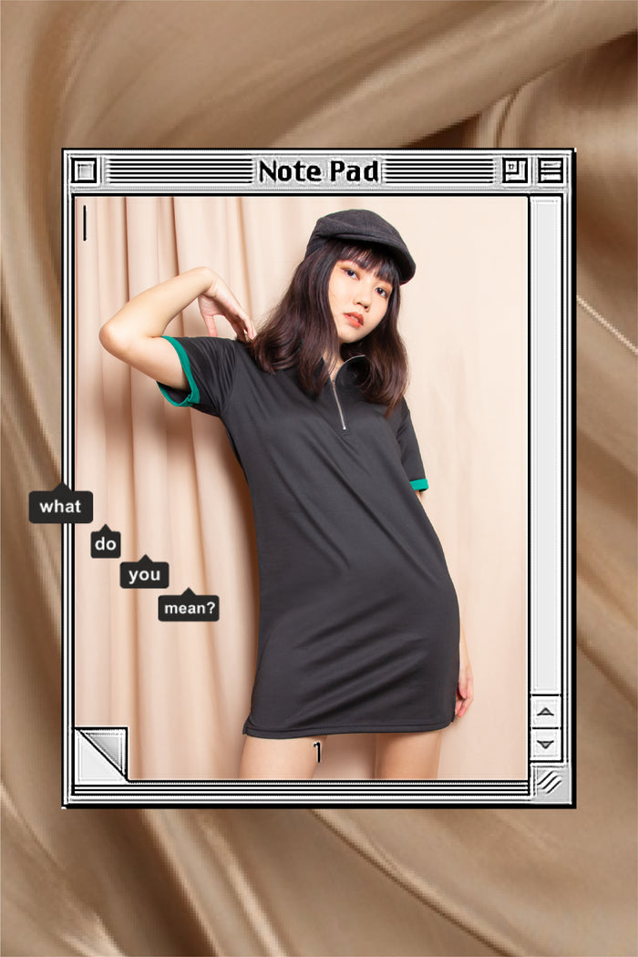 Remington Polo Shirt Dress in Black