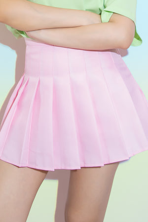 Tricia Pleated Tennis Skorts in Pink