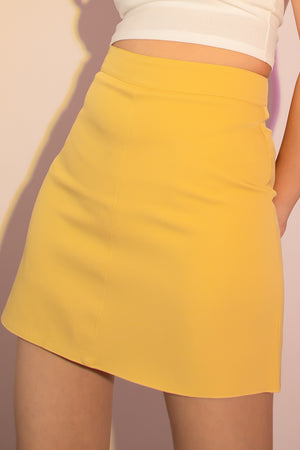 Shannon A-Line Skorts in Yellow - Three One Duo