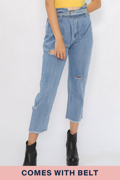 Addison Gathered Waist Jeans