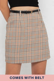 Peyton Checkered Skorts in Orange Plaids - Three One Duo