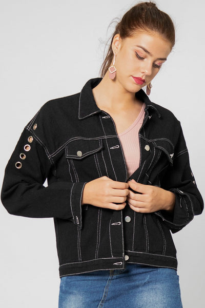 Blair Ring Sleeve Denim Jacket