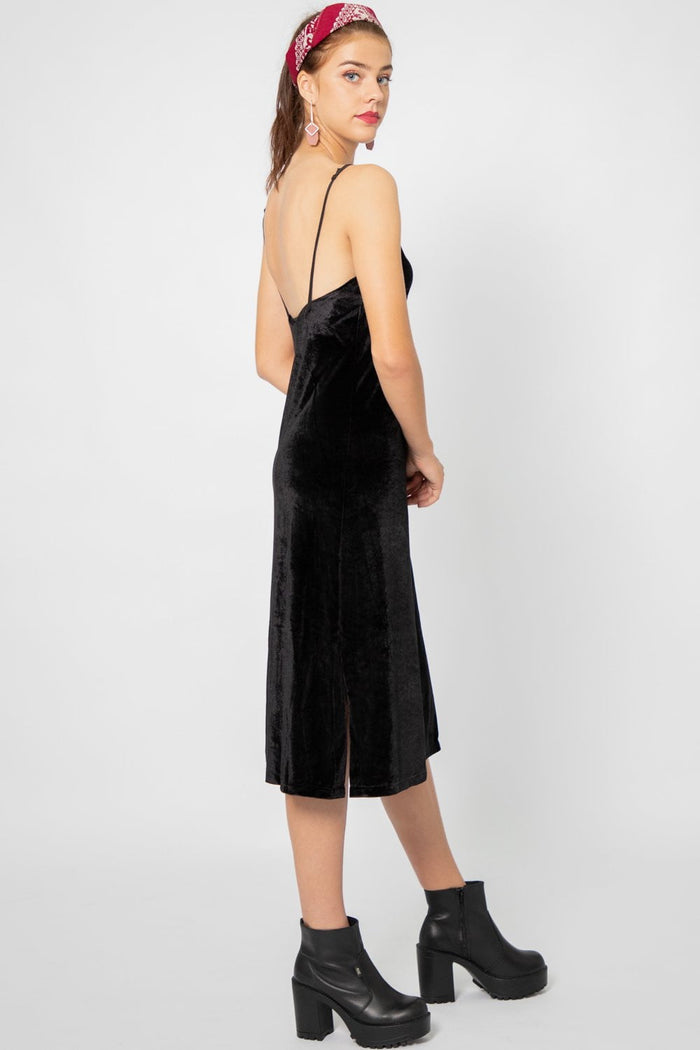 Danielle Velvet Slip Dress - Three One Duo