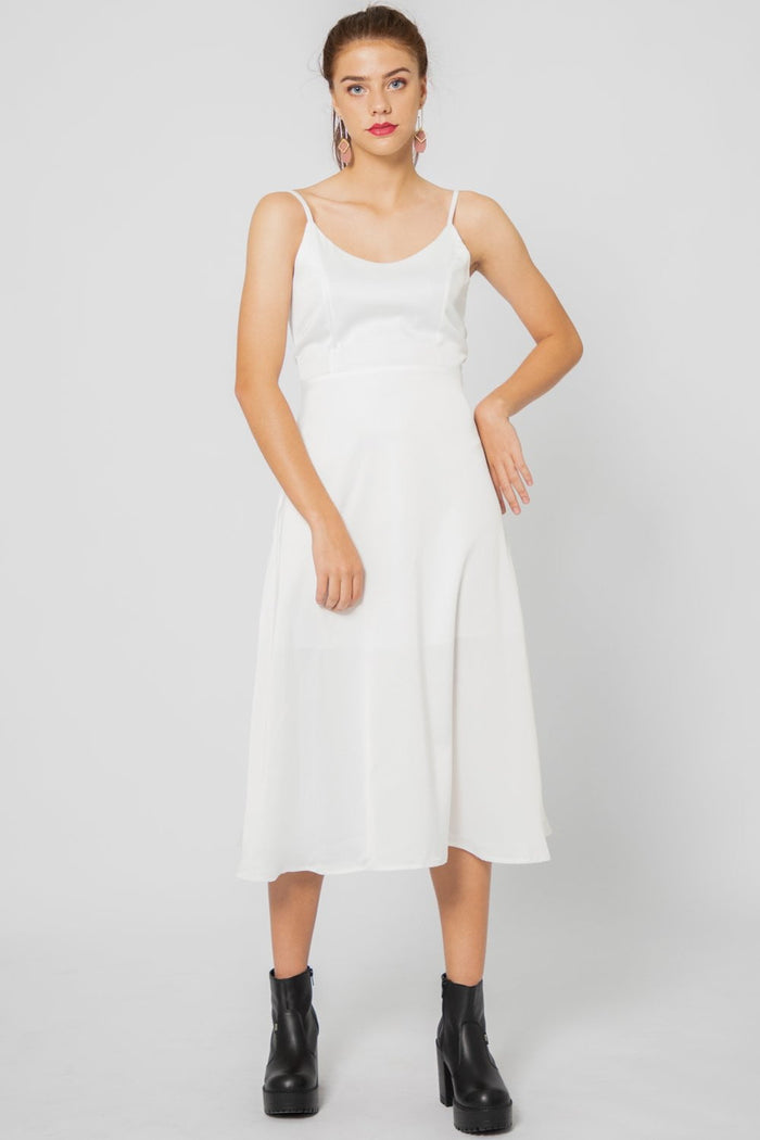 Heidi Button Back Midi Dress - Three One Duo