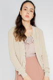 Elena Basic Knit Cardigan in Almond - Three One Duo