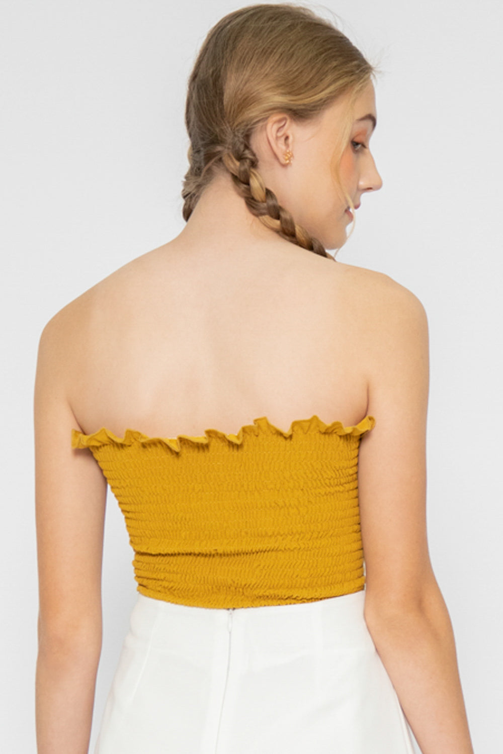 Kadey Ruffle Tube Top - Three One Duo