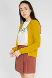 Elena Basic Knit Cardigan in Mustard - Three One Duo