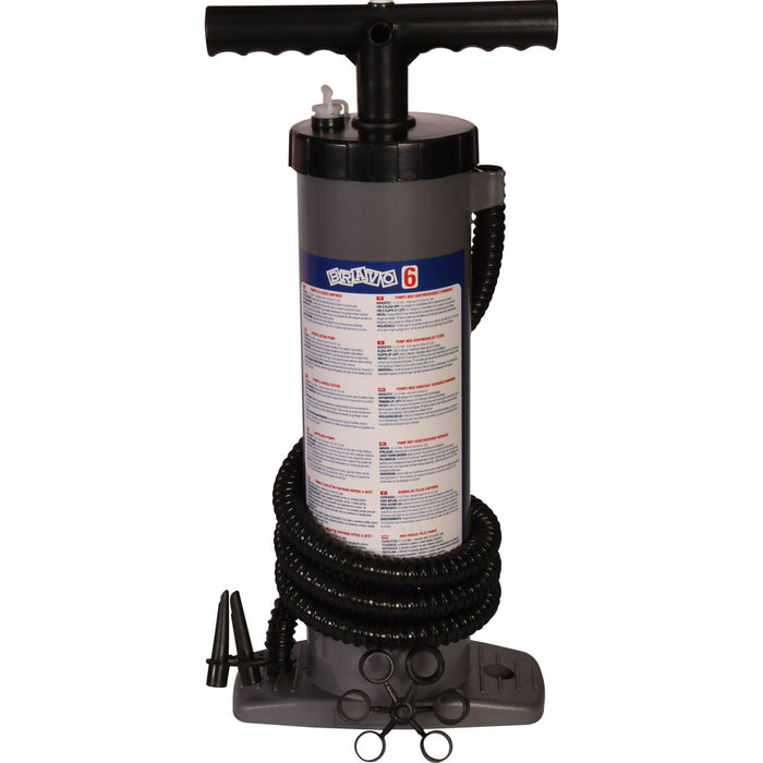 Bravo 6 Stirrup Style Inflatable Dinghy Inflator Pump - 300 litres per minute