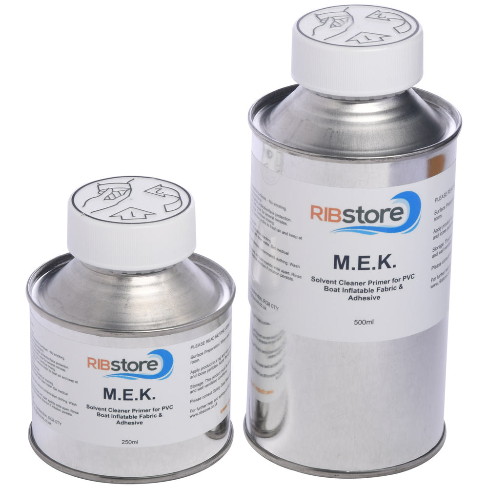 MEK PVC Solvent Cleaner, Degreaser and Primer for Inflatable Boats by RIBstore - 125ml, 250ml or 500ml