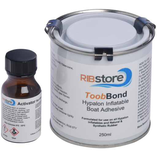ToobBond Hypalon Inflatable Boat & RIB Repair 2-Part Adhesive Glue by RIBstore - 125ml, 250ml or 1 Litre