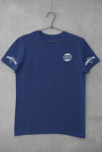 Blue GRINDATION Sleeve T-Shirt