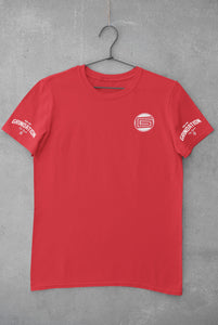 Red GRINDATION Sleeve T-Shirt