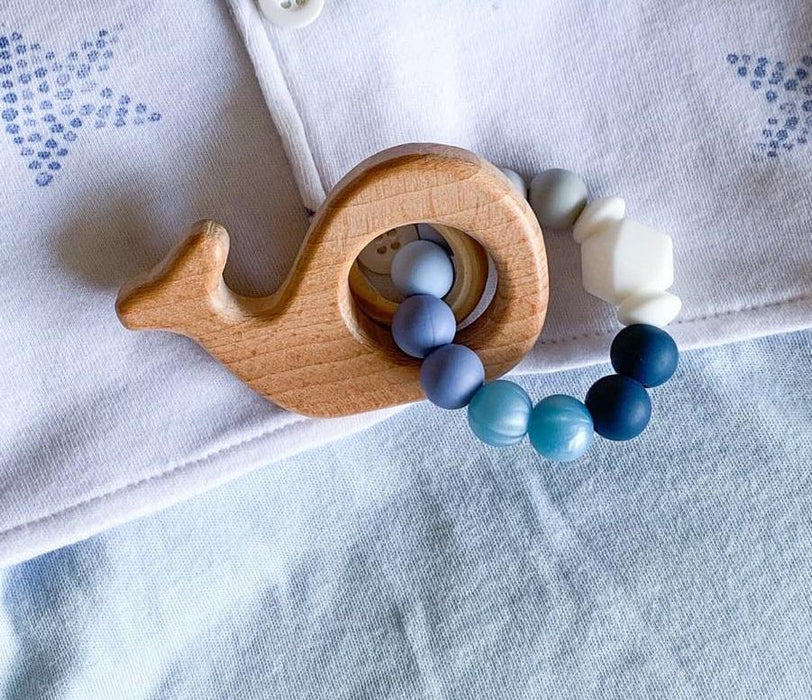 Whale Beaded Rattle Ring - Two Colors