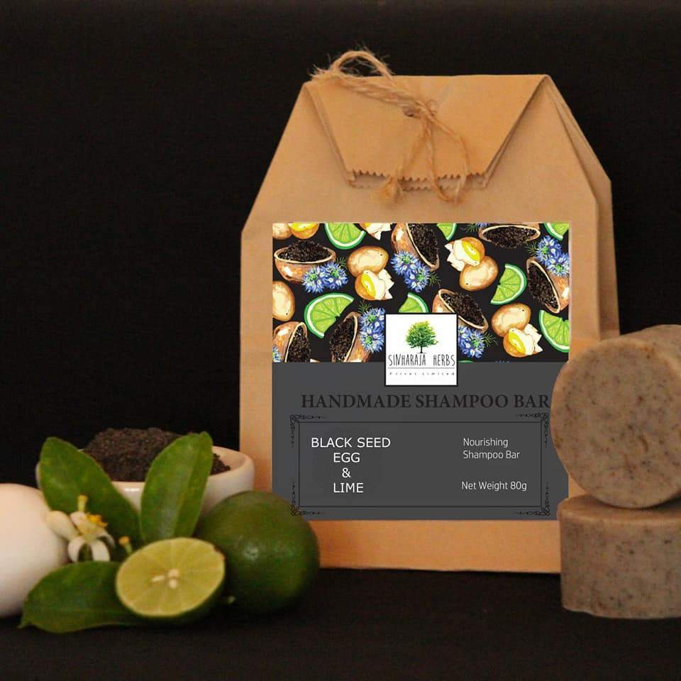 Black Seed, Egg, and Lime Nourishing Shampoo Bar - 80g