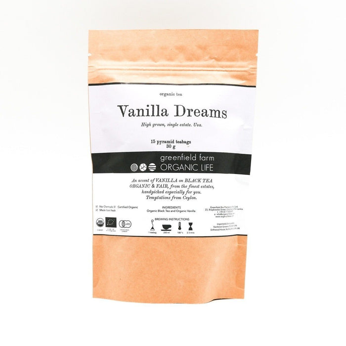 Vanilla Dreams - Organic Black Tea - 1.5g x 15 PTB