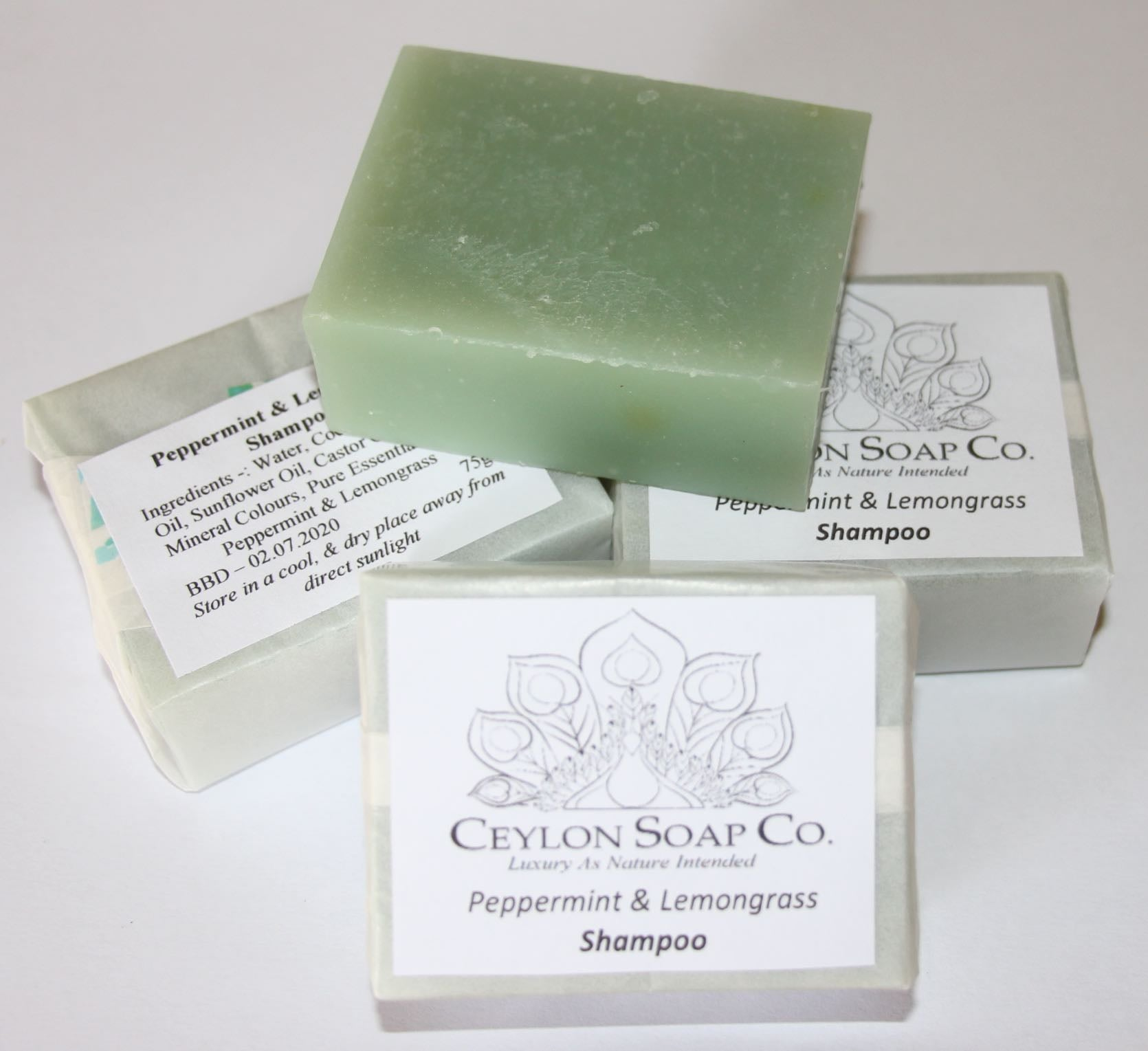 Peppermint & Lemongrass Shampoo Bar - 80g