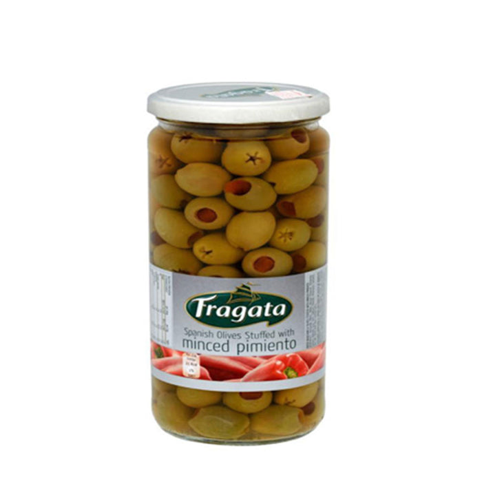 Stuffed Spanish Olives Fragata 935g (Glass bottle)