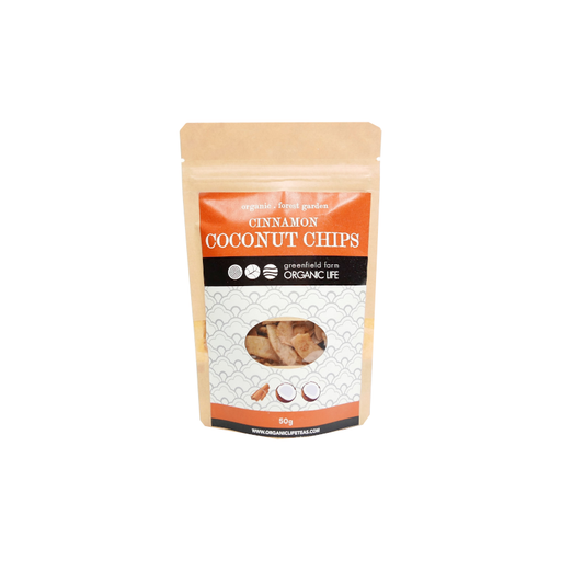 Organic Coconut Chips with  Cinnamon