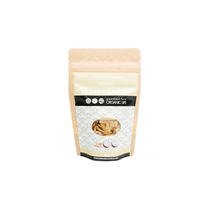 Organic Coconut chips with Ginger