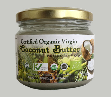 Organic Coconut Butter Stone Ground - 300g Glass Jar