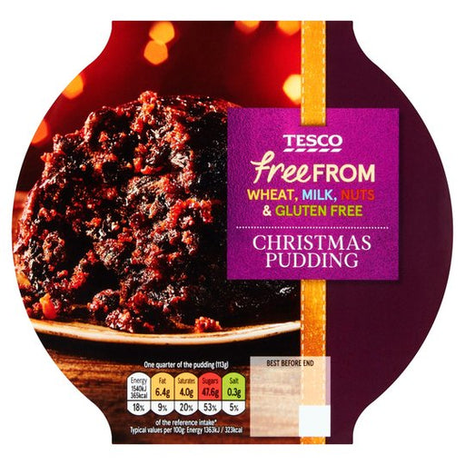 Tesco - Free From Christmas Pudding - 400g