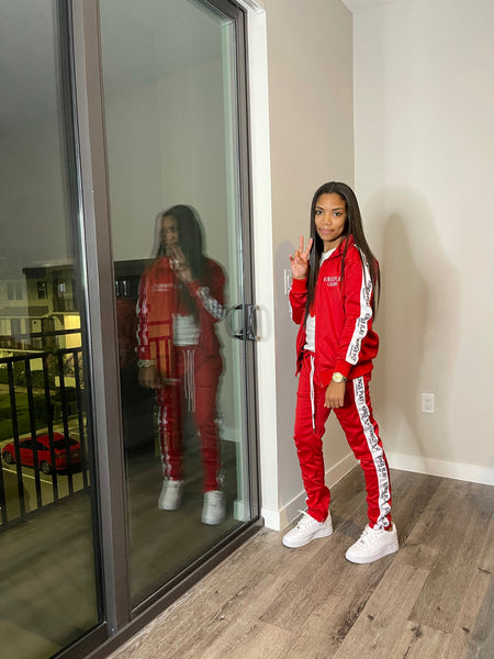 Luxe Tracksuit Red