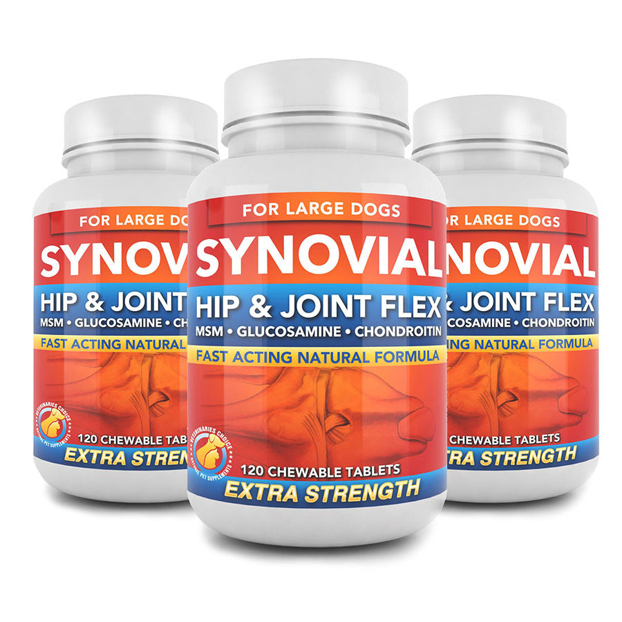 Three Bottles of Synovial | Hip & Joint Flex