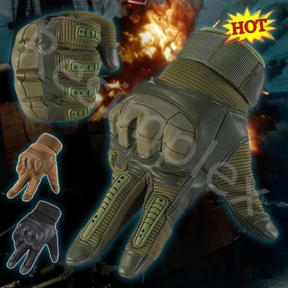 Spartan™ Premium Full Finger Tactical Gloves