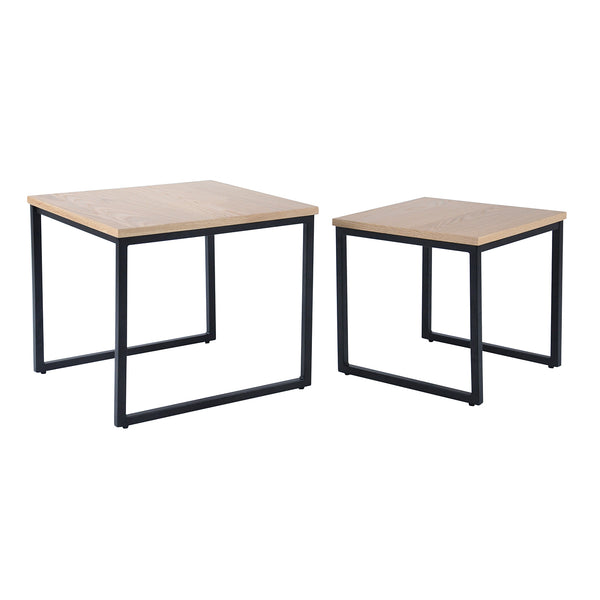 Daly Nested Square Table set, 50x50x45 cm & 40x40x40 cm
