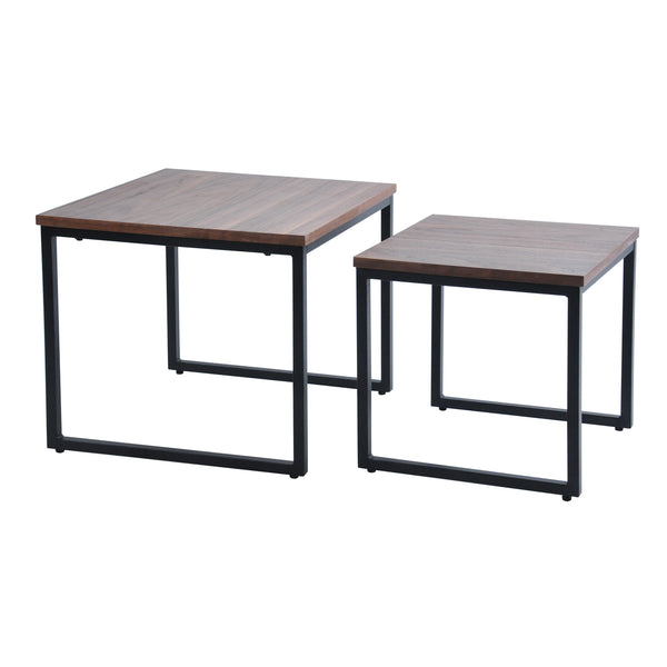 Daly II Nested Square Table set, 50x50x45 cm & 40x40x40 cm