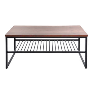 Daly II Shelf coffee table, walnut veneer