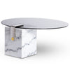 Round Marble Patch Coffee Table